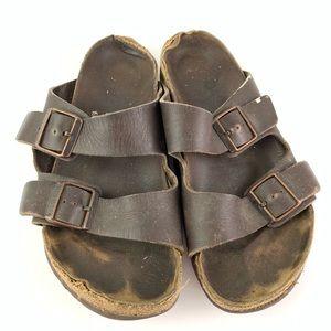 Birkenstock Brown Leather Arizona Sandals